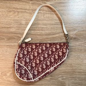 Vintage Dior Monogram Mini Saddle Bag